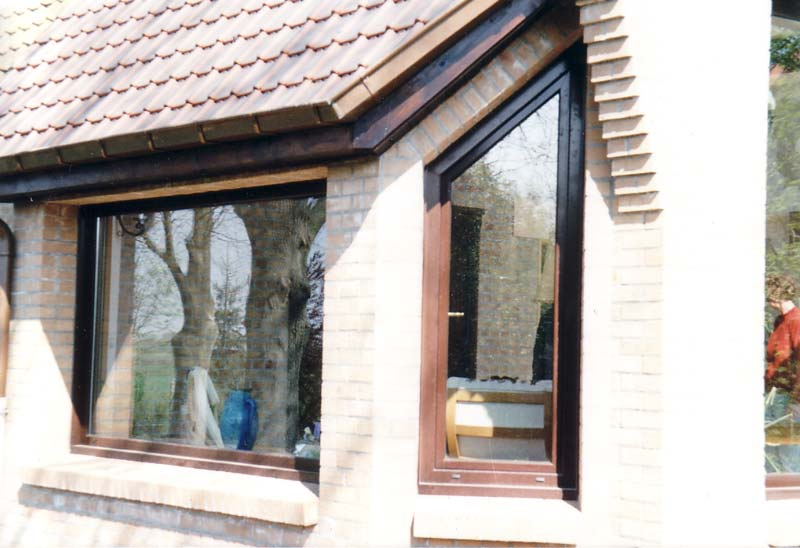 Nos r alisations de fenetres for Fenetre pvc imitation bois