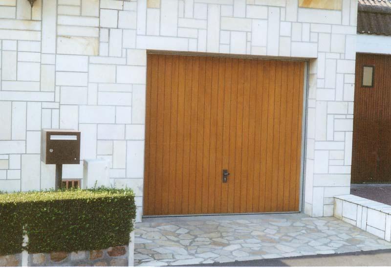 Nos r alisations de portes de garage - Porte de garage basculante bois ...
